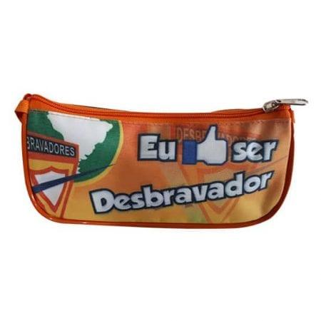 Estojo DBV - Eu curto ser Desbravador- Laranja c/preto-446930545
