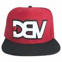 Boné Aba Reta DBV - Vermelho c/ Preto-1597687949