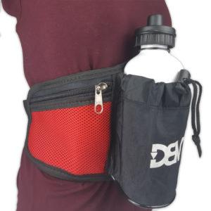 Pochete de cintura DBV - Preto com Vermelho2